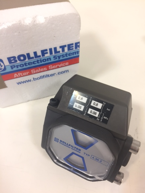 Bollfilter Differential Pressure Contact Indicator